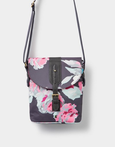 Joules TOURER Printed Canvas Body Bag GRYBBLM