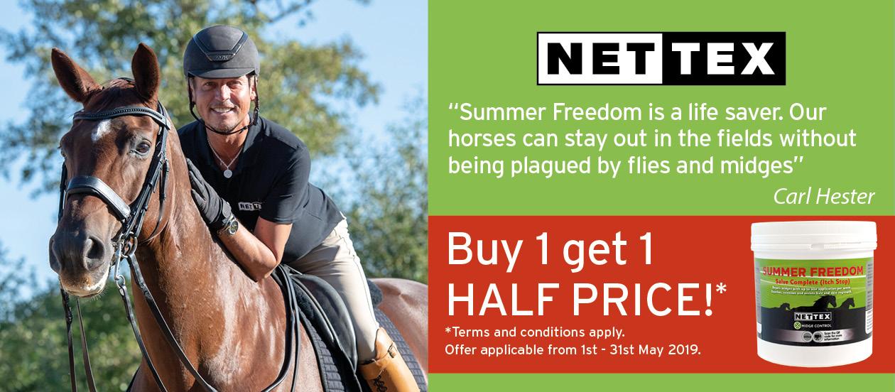 Nettex-Equine_Summer-Freedom-Offer_Digital-Banner_605x265px