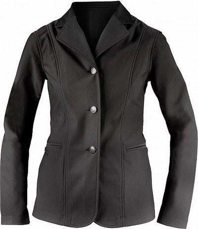 Horze Wiona Black Fitted Show Jacket