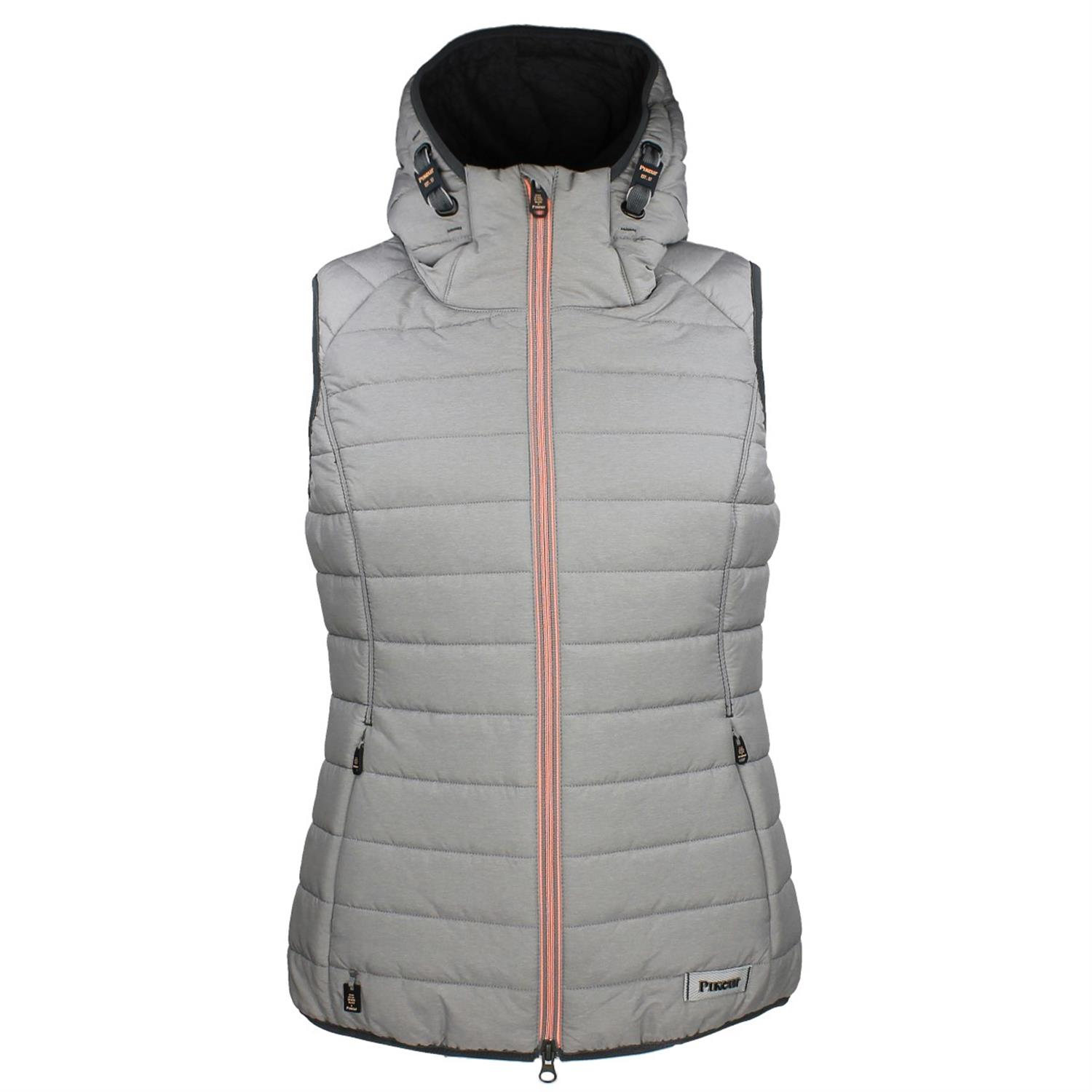 Pikeur Next Generation Evi Quilted Grey Waistcoat: UK 10 - 14