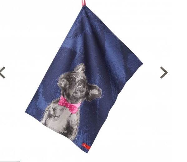 Joules Thea Tea Towel 2's: Chocolate Labrador/French Bulldog
