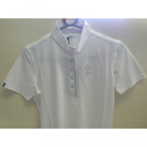 pikeur crystal button white show shirt